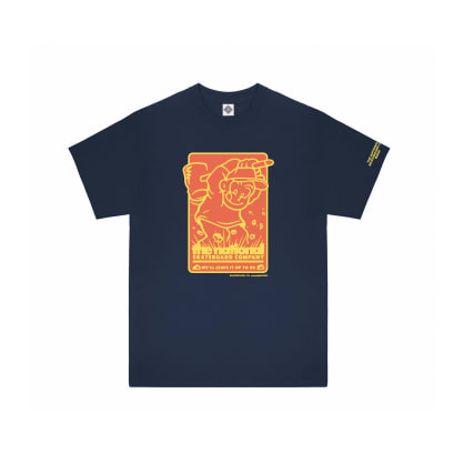 The National Skateboard Co Hook Up T-Shirt - Navy