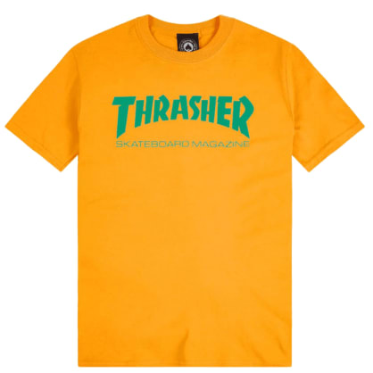Thrasher Magazine Logo T-Shirt Yellow/Green