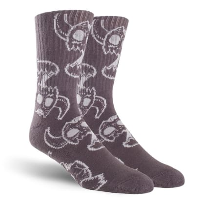 Toy Machine Monster Skull Crew Sock Charcoal