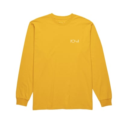 Polar Skate Co. Stroke Logo Long Sleeve T-Shirt - Yellow