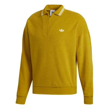 adidas Bouclette Long Sleeve Top - Spice Yellow/Off White
