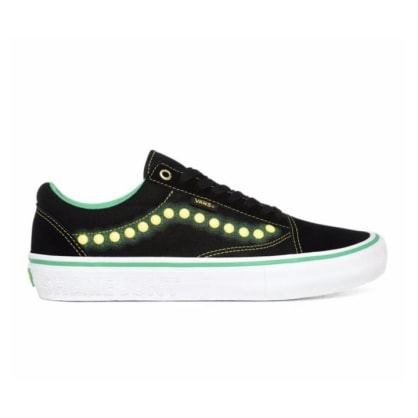 Vans X Shake Junt Old Skool Pro Shoes - Black/Green/Yellow