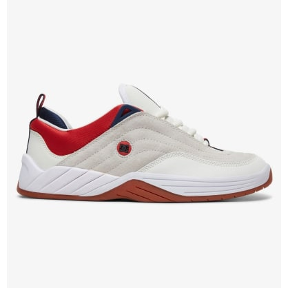 DC Williams Slim S Skateboarding Shoes - White/Navy/Red