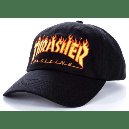 Thrasher - Flame Old Timer Cap - Black
