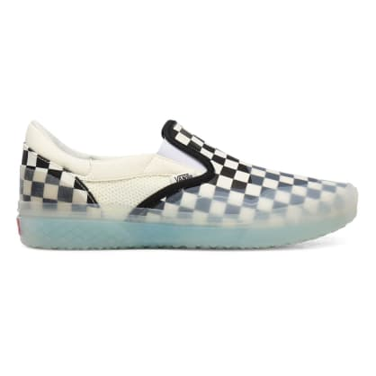 Vans Checkerboard Mod Slip On Shoes - Checkerboard / Marshmallow