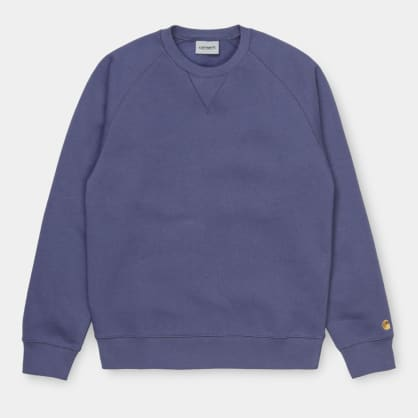Carhartt WIP - Chase Sweat - Cold Viola/ Gold