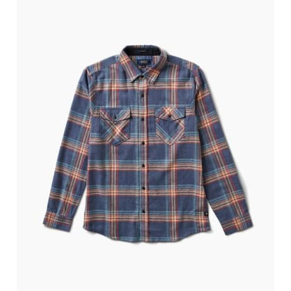 Roark Kemp Long Sleeve Flannel Shirt - Navy