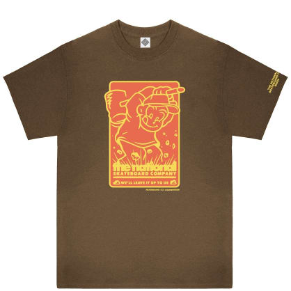 The National Skateboard Co Hook Up T-Shirt - Brown