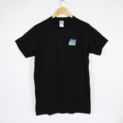 Ripndip Rainbow Nermal Pocket T-Shirt - Black