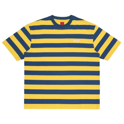 WKND Stripe T-Shirt - Yellow / Blue