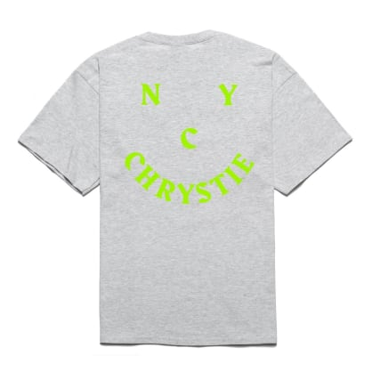Chrystie NYC Smile Logo T-Shirt - Grey