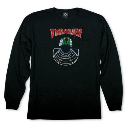 Thrasher Doubles Longsleeve T-Shirt - Black