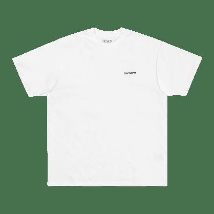 Carhartt WIP S/S Script Embroidery T-Shirt - White/Black