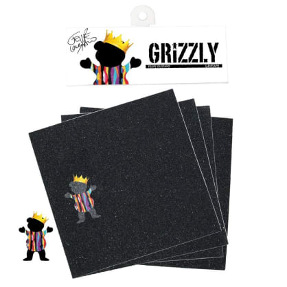 Grizzly Gustavo Square Pack Skateboard Griptape - Black