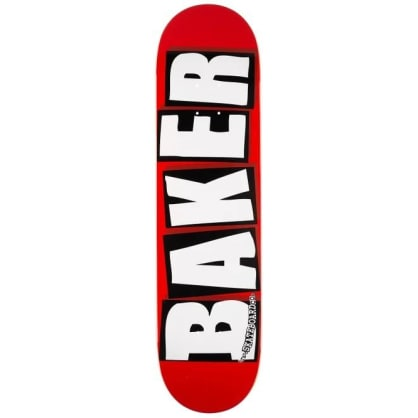 Baker - Brand Logo Deck Red/White 8.25""