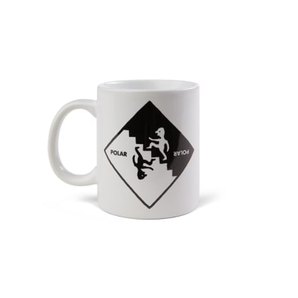 Polar Skate Co Staircase Mug - White / Black