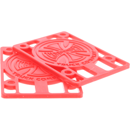 """Independent- 1/8"""" Risers Red"""