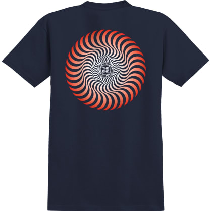 SPITFIRE Youth Classic Swirl Fade Tee Navy/Red