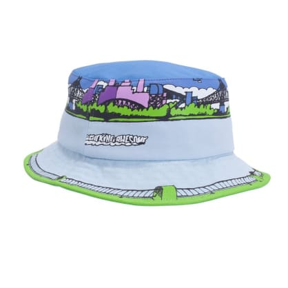 Fucking Awesome Boat Bucket Hat - Blue with Colour