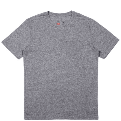 Brixton Basic Pocket T-Shirt - Heather Grey