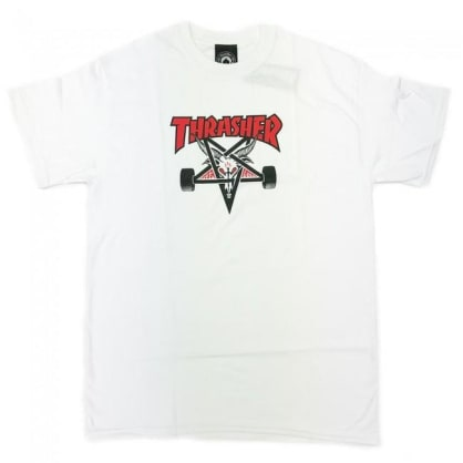 Thrasher Skateboard Magazine Two-Tone Skategoat T-Shirt - White