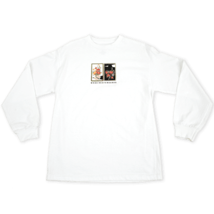 WKND - Gaudy Salon Vase Long Sleeve Tee - White