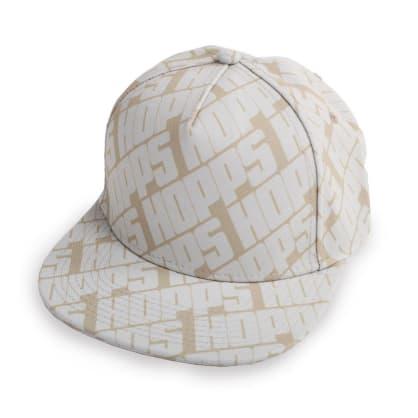 Hopps Skateboarding All Over Snapback Hat Khaki/White