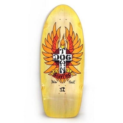 Dogtown Big Foot II Rider Skateboard Deck Natural / Yellow Fade - 11.875 x 30.75
