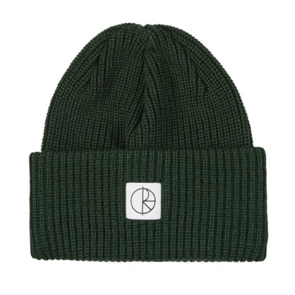 Polar Skate Co Double Fold Merino Beanie - Dark Green