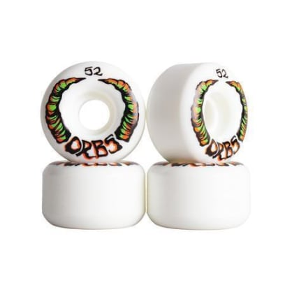 Welcome Skateboards - 52mm Orbs Apparitions 99a Wheels - White