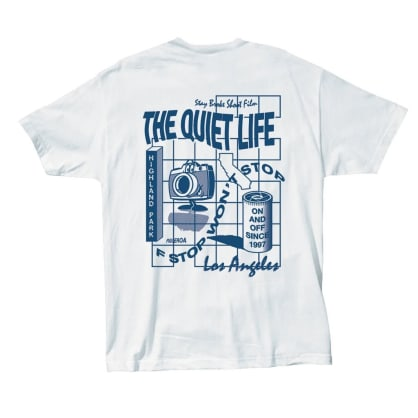 QUIET LIFE Photo Grid Tee White