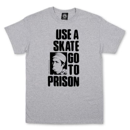 Thrasher Use A Skate Go To Prison Tee Heather Grey
