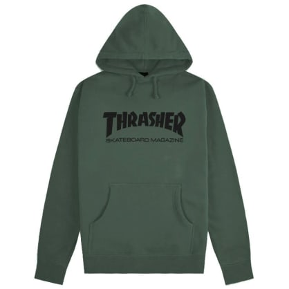 Thrasher Skate Mag Pullover Hoody Army Green