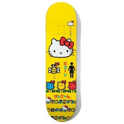 "Girl X Hello Kitty Mike Mo Skateboard Deck 8.25"""