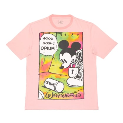 Wayward Skateboards - OPIUM FLASHBACK T-SHIRT PINK