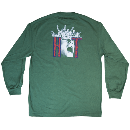 Heartthrobs Face Long Sleeve Tee Forest Green
