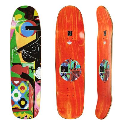 """Polar Skate Co Oskar Rozenberg Vase & Moth Skateboard Deck - 8.625"""" P9 Special Shape Everslick"""