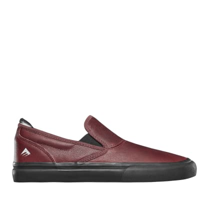 Emerica Wino G6 Slip-On Dakota Servold Skate Shoes - Oxblood