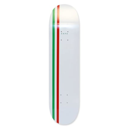 "Cafe - White/Green/Red Stripe Deck (8"")"