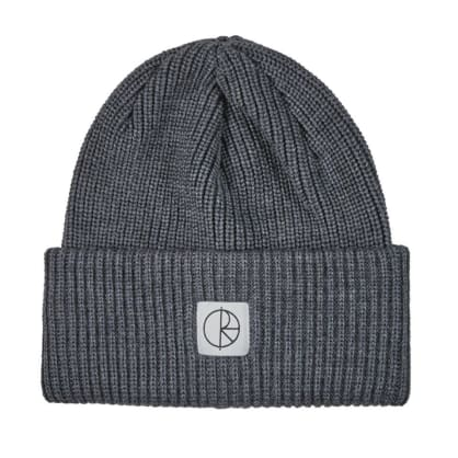 Polar Skate Co Double Fold Merino Beanie - Heather Grey