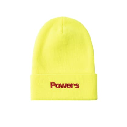Powers Simple Logo Beanie - Safety Yellow