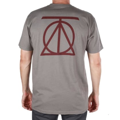 Theories Crest T-Shirt - Warm Grey-Crimson