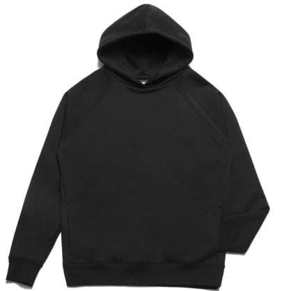 Chrystie NYC Clean Cut Side Pockets Hoodie - Black