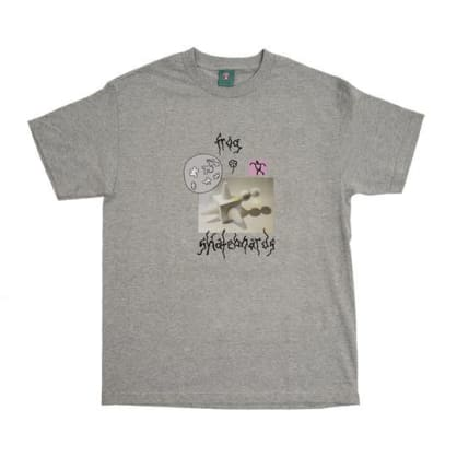 Frog Skateboards Gift From the Moon T-Shirt - Athletic Grey