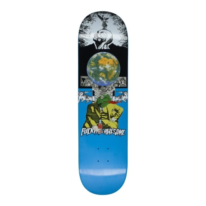 Fucking Awesome Frogman Blue Skateboard Deck - 8.25""