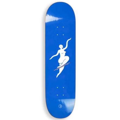 "Polar Skate Co No Comply Blue Skateboard Deck - 8.5"""