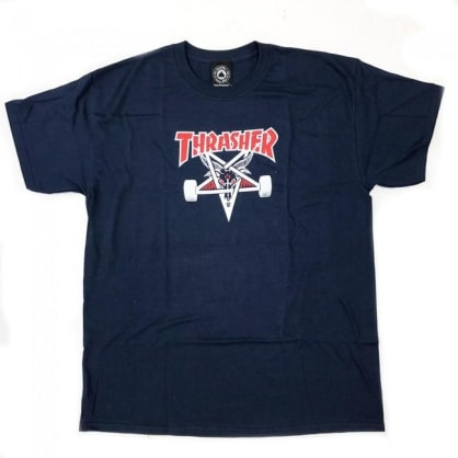 Thrasher Skateboard Magazine Two-Tone Skategoat T-Shirt - Navy