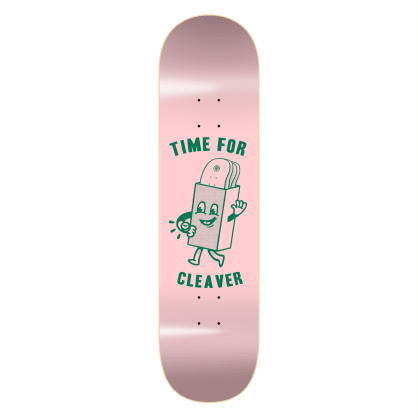 "Cleaver Skateboards - 8.1"" Time For Deck - Pink"