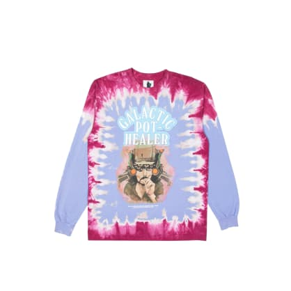 Real Bad Man GPH Long Sleeve T-Shirt - Blueberry Tie Dye