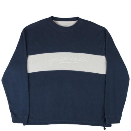 Yardsale Embossed Fleece Sweatshirt - Navy / White